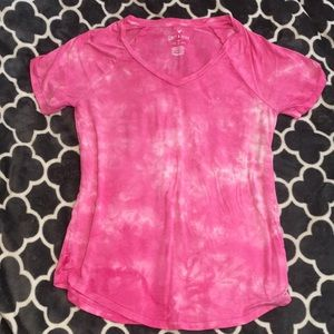 """American Eagle """"soft and sexy"""" pink tie dye top"""